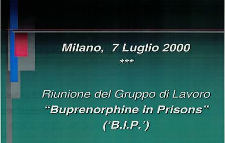 """Riunione del Gruppo di Lavoro """"Buprenorphine in Prison"""" (""""B.I.P."""")"""