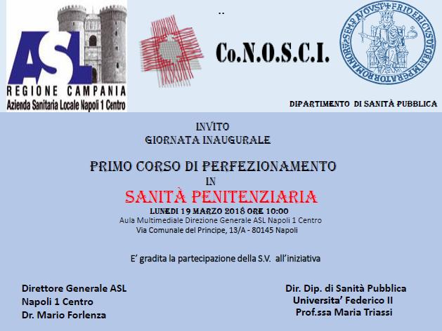 Giornata inaugurale del I° Corso di Perfezionamento in Sanità Penitenziaria